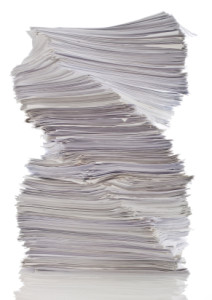 Stack of Paper in a spiral