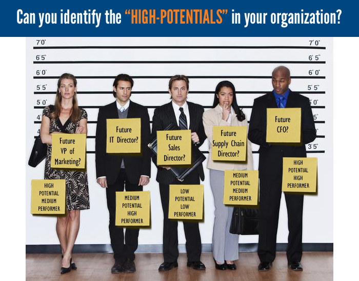Can you identify the high potentials in your organization