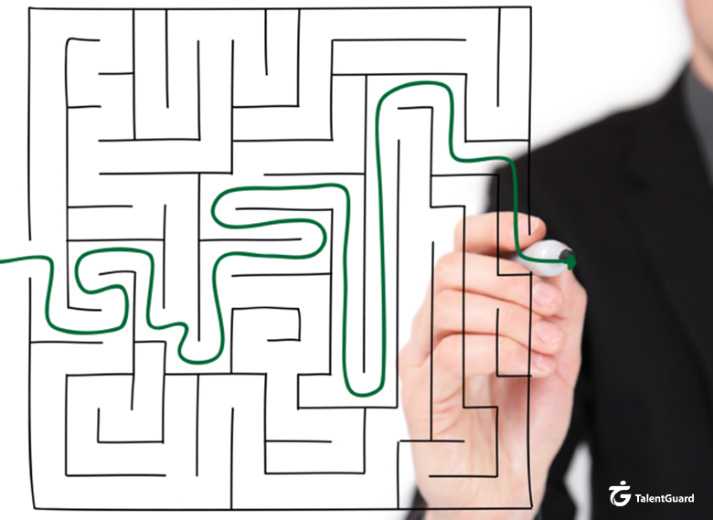 Career Pathing Person completing a maze very easily
