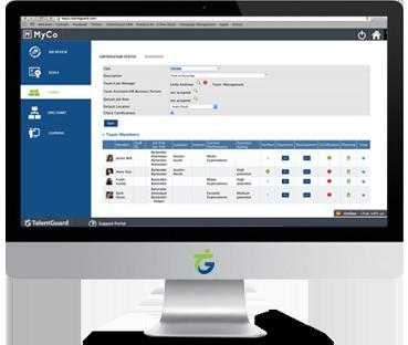 Certification Tracking software screenshot displayed on a desktop computer
