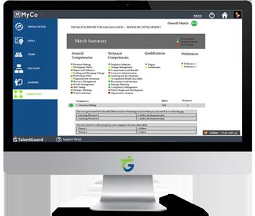 Development Planning software screenshot displayed on a desktop computer