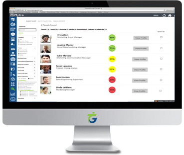 Succession Planning software screenshot displayed on a desktop computer