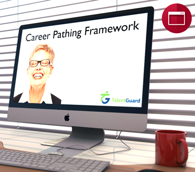 career pathing framework webinar displayed on apple desktop computer