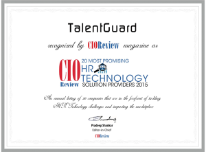 TalentGuard recognized by CIO Review magazine as a 20 Most Promising HR Technology Solution Providers 2015