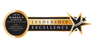 Leadership Excellence LEAD2016 Top Corporate Leader Award - Over 35