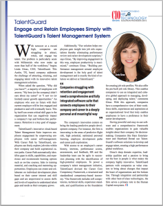 CIO Review HR Technology Solution Providers 2015 TalentGuard Linda Ginac feature