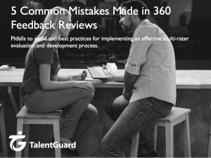 Mistakes Made in 360 Degree Feedback Reviews - TalentGuard