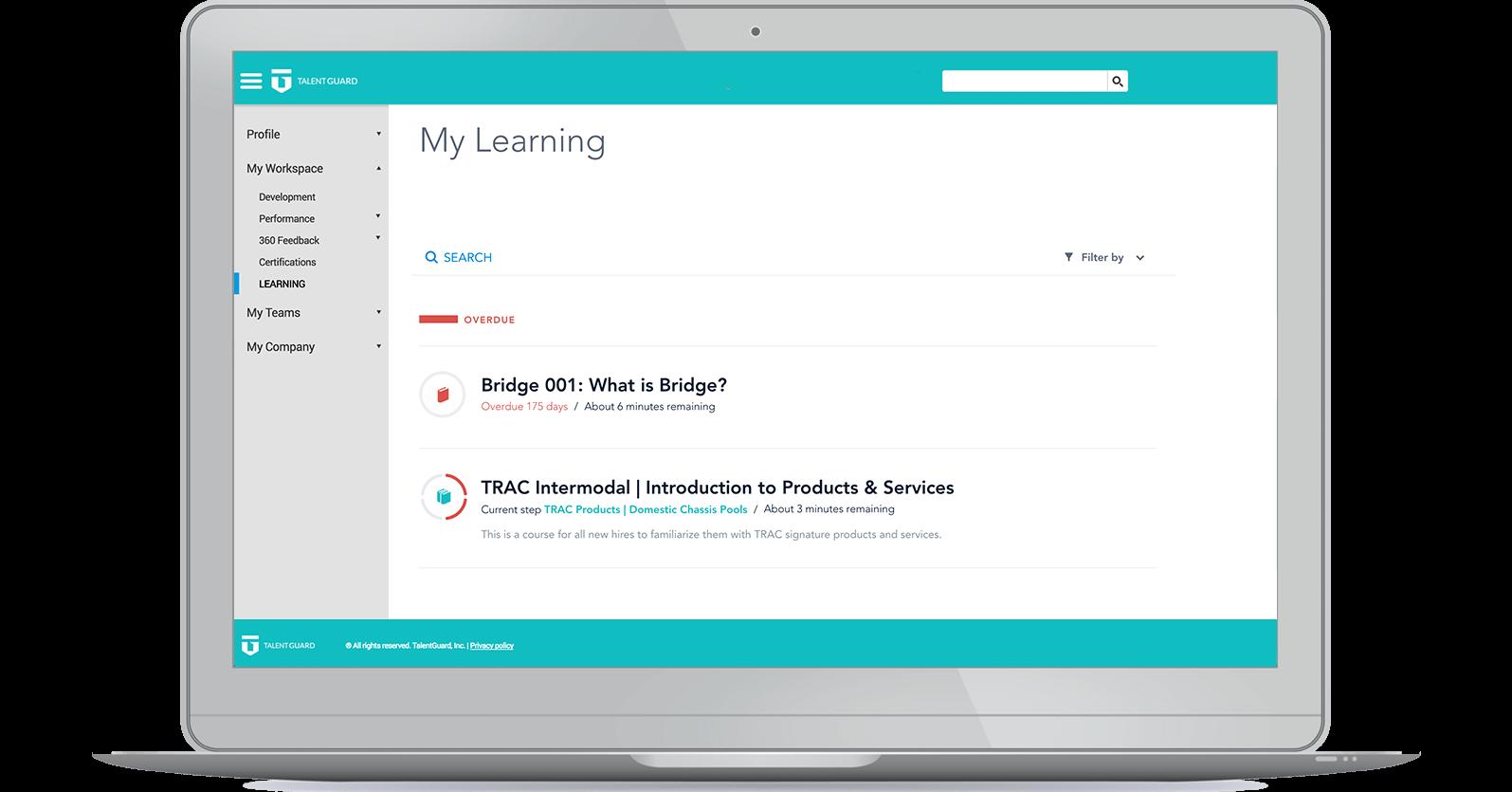 Learning Management System screenshot