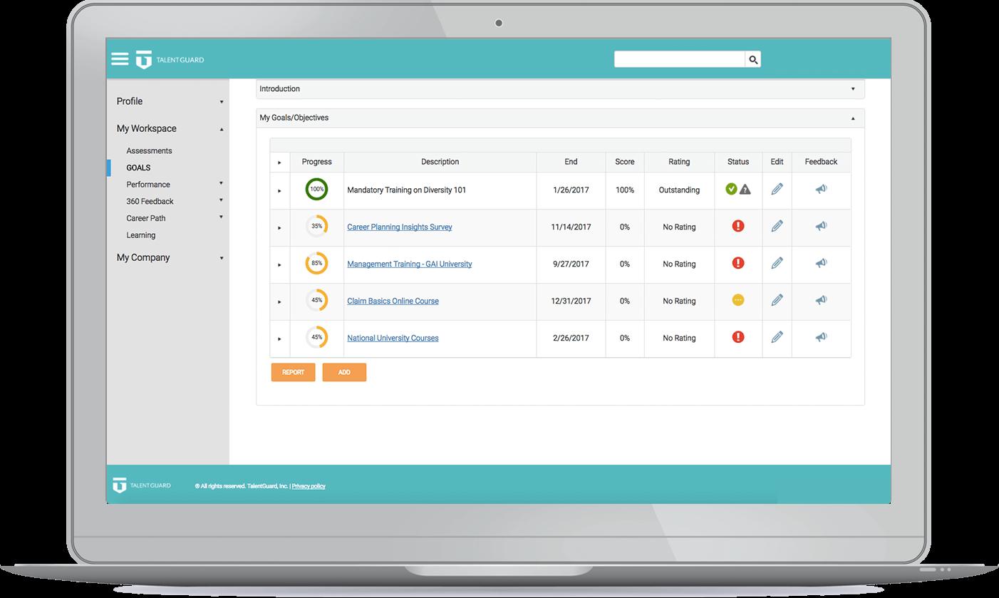 Development Planning software screenshot