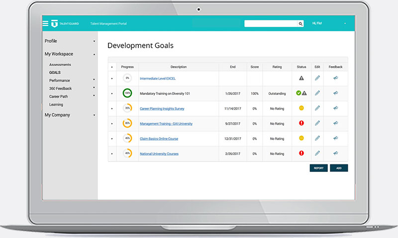 Succession Planning - Development Goals Automation