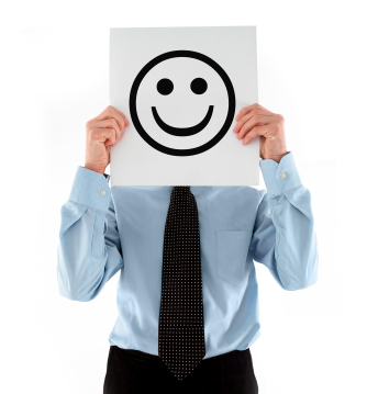 Smiling Face of happy employee